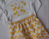 Chevron Skirt Ombre Dot fabric Skirt Riley Blake Chevron Girls Skirt Toddler Skirt Fall Skirt Back to School clothing chevron outfit