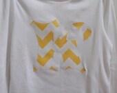Personalized Applique Shirt Girls Applique Applique Top Initial Applique Chevron Flower lime lemon applique