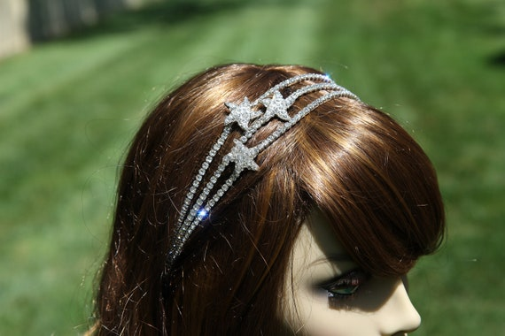 Starfish Bridal Hair Band -  Wedding Headband - Starfish Rhinestone Hair Accessories -  Bridal Hair  Accessory