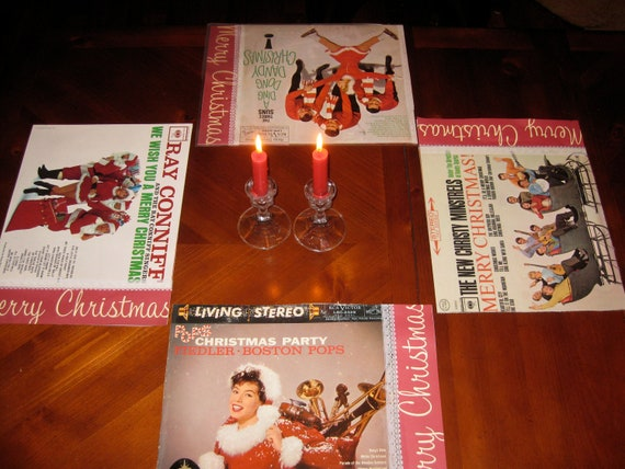 Christmas Album Cover Placemats -- The Ding Dong Dandy Christmas Collection