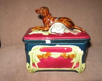 Art deco porcelain juwel box