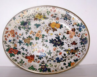 Tray Daher Floral Decorated