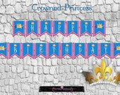 PRINTABLE Birthday Banner -Crowned Princess