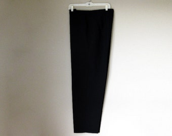 Vintage Black Pants. Size 24WP Plus Size Womens Dress Slacks. Vintage Trousers.