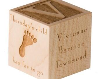 Custom Adoption Cube, Welcomed Home Cube, Gotcha Day Gift, Custom Gift for Baby Adoption, New Adoption Baby Cube, Twin Adoption Gift