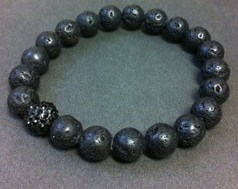 Men's Lava Energy Stretch Beaded Bracelet