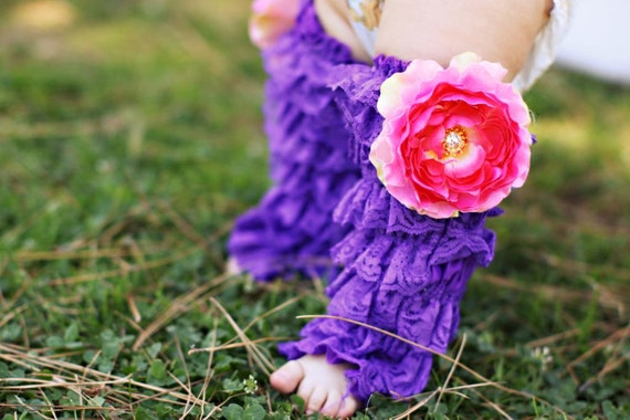 BettiPettiskirts lace leg warmers, one size, cute baby, photo prop