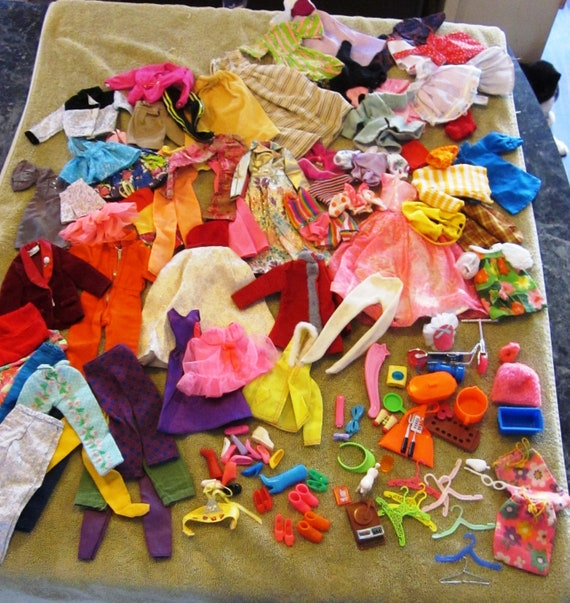 Lot of Vintage Barbie  & Ken Clothing and Accessories