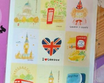 Cute Paper Sticker- London