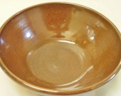 Wood fired bowl in Copper Penny Glaze...