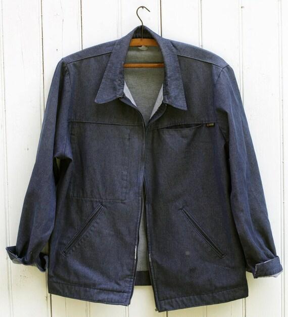 Vintage 60s 'Le Labourer' Made In France Mens Work Wear Jeans Denim Jacket