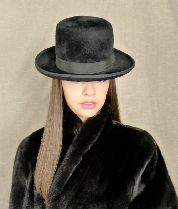 HUCKEL BEAVER black Mens hat