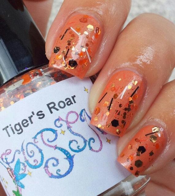 Tiger's Roar Polish Full size glitter Custom Franken