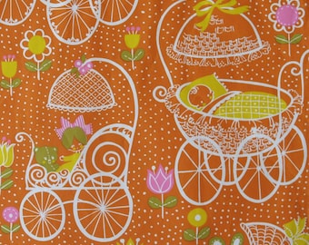 Vintage Hallmark MOD BABY - Gift Wrap - Wrapping Paper - 1960s 1970s
