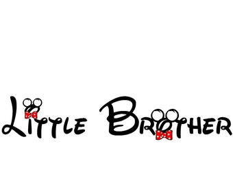 Disney Little Brother Iron on Transfer Decal(iron on transfer, not digital download)