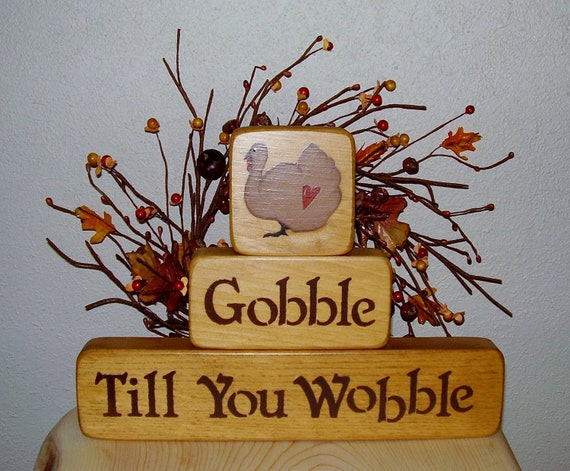 Thanksgiving Gobble Till You Wobble Blocks
