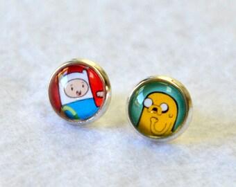 Adventure Time Earrings of Finn and Jake - 1 pair