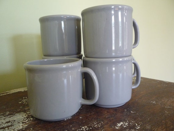 Vintage Set of 7 Texas Ware Melamine Mugs
