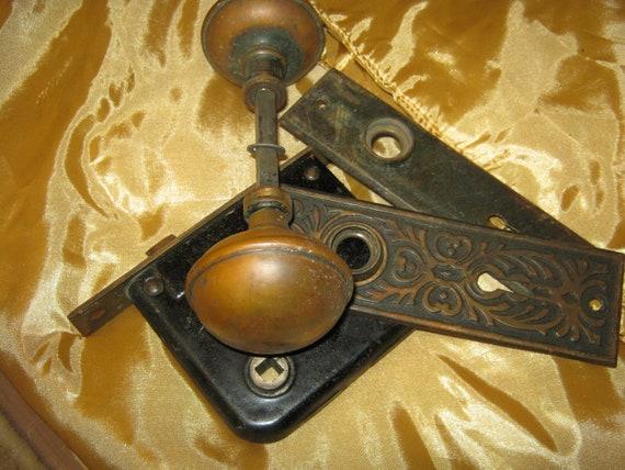 Antique Vintage Eastlake door knob hardware