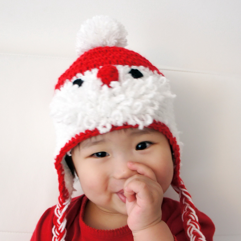 Santa Claus Hat Crochet Christmas Hat Crochet Baby Hat