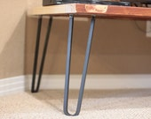 Square Bar Hairpin Legs - Raw Steel