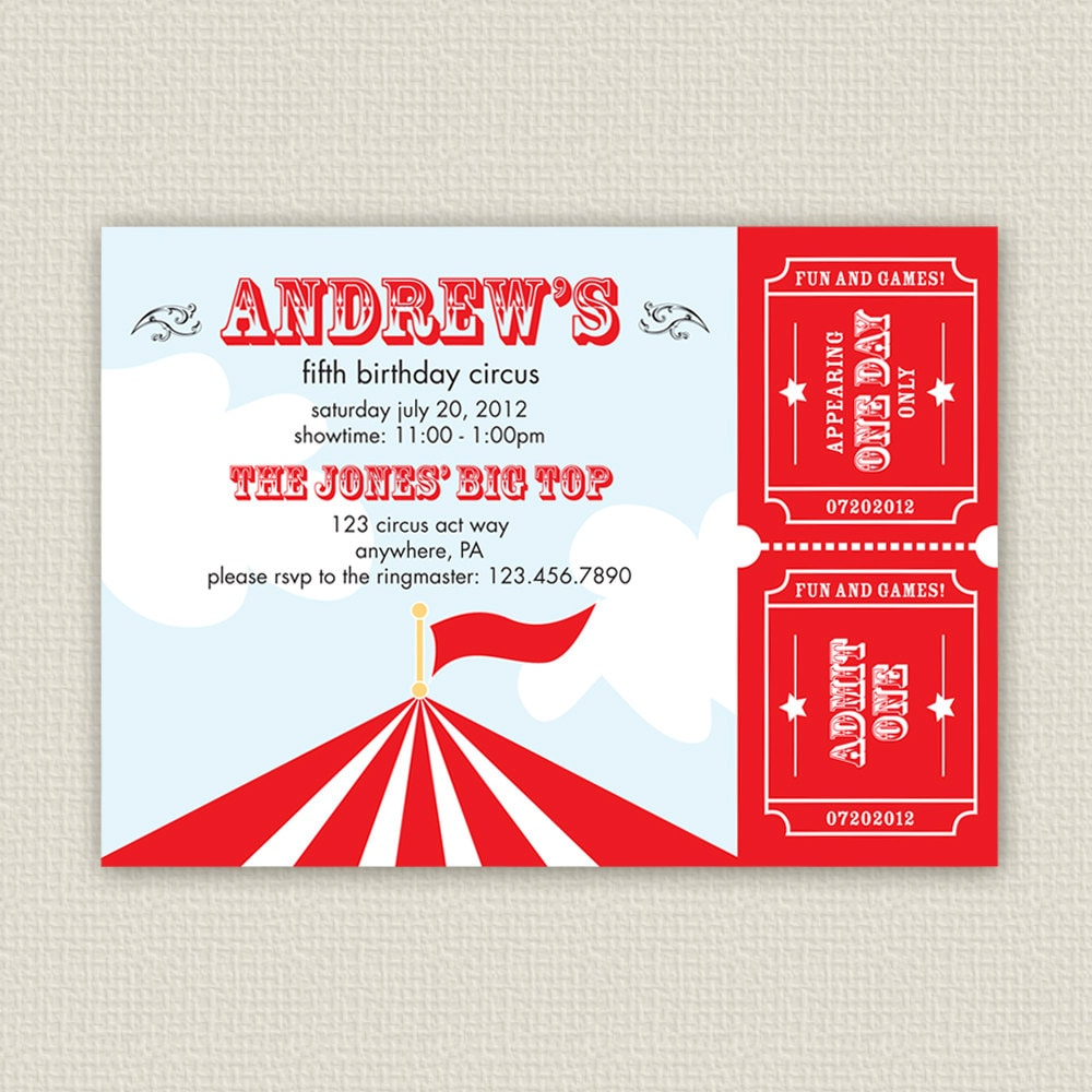 Circus Invitation Ideas with good invitations sample