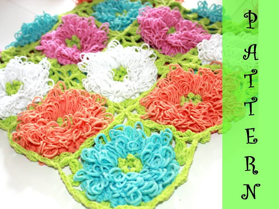 Crochet Zinnia Flower Pattern : Crochet PATTERN: Zinnia Pop-up Blanket Baby Home decor