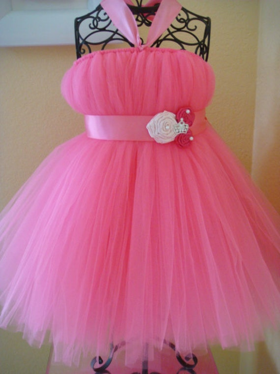 Bright pink Princess tutu dress