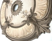 Painted Ceiling medallion  ACANTHUS LEAF bronze for a chandelier or fan