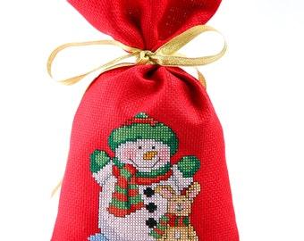 Christmas gift bag under the Christmas tree, Christmas Decoration