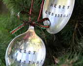 Vintage Silver Spoon Christmas Ornament / Decoration