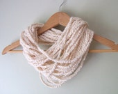 White Scarf Necklace .. Organic Cotton .. White Infinity Scarf .. Vegan Clothing .. Indie Clothes .. Organic Cotton Scarf .. EcoFriendly
