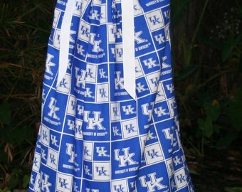 Featuring Kentucky Wildcats Pillowcase Dress :TD019-one size 5 ready to ship-no more fabric