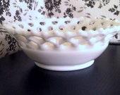 Vintage white milk glass bowl