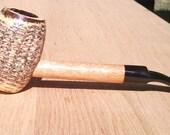 Crooked Mahogany Country Gentleman Lovat Corn Cob Pipe