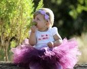 Baby Plum Tutu Skirt