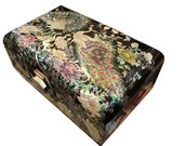 Lacquer ware inlaid new mother of pearl handcrafted jewelry case,jewel box trinket box with peacock  Design
