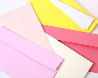 2young Rainbow pastel colors envelope set of 5