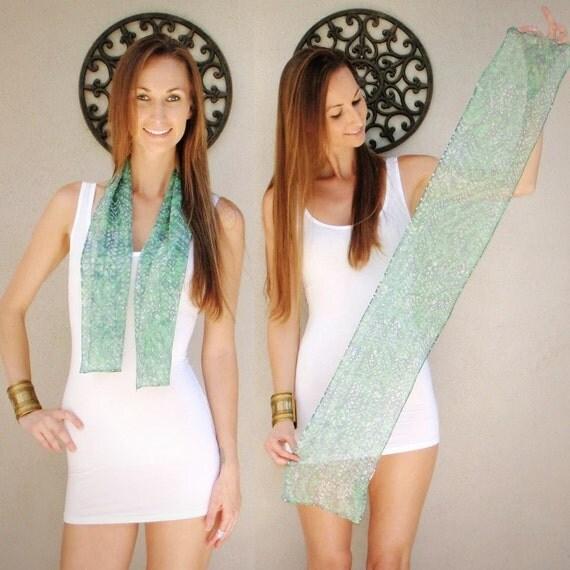SALE 100% silk batik scarf / headband handmade