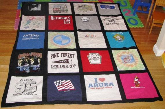 Custom 20 shirt TSHIRT quilt  The perfect keepsake
