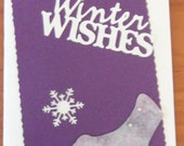 Winter Wishes Skate Christmas Card Handmade NEW Y14754950