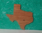 Scroll Sawed Wooden Texas State