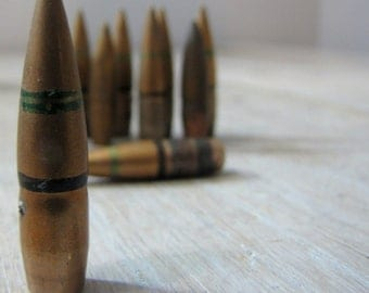 10 brass bullets for craft diy or sculpture