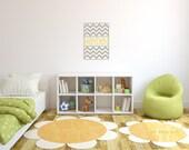 Children Wall Decal Baby Name Vinyl - Nursery Decals Letter Child Chevron