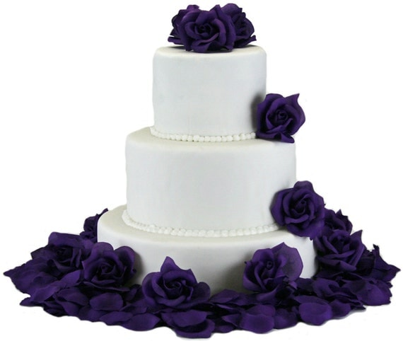 silk flowers for wedding cake decoration