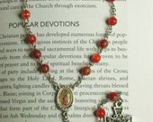 Glass Our Lady of Guadeloupe Chaplet, Handmade