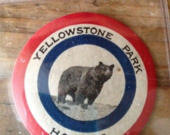 Treasury Item - Vintage Yellowstone National Park Hotels Sticker/Tags