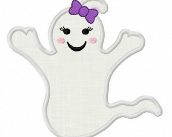Instant Download Halloween Ghost Applique Machine Embroidery Design NO:1361
