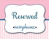 RESERVED LISTING FOR: carmadann