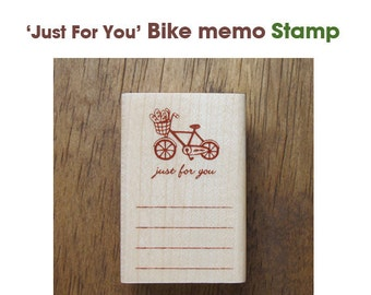 Bike Memo Rubber Stamp - Just For You - **